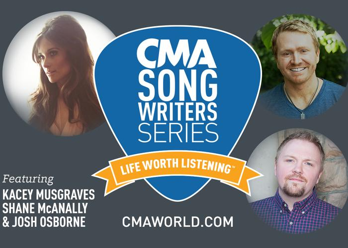 CMA Songwriters Series feat  Shane McAnally, Kacey Musgraves