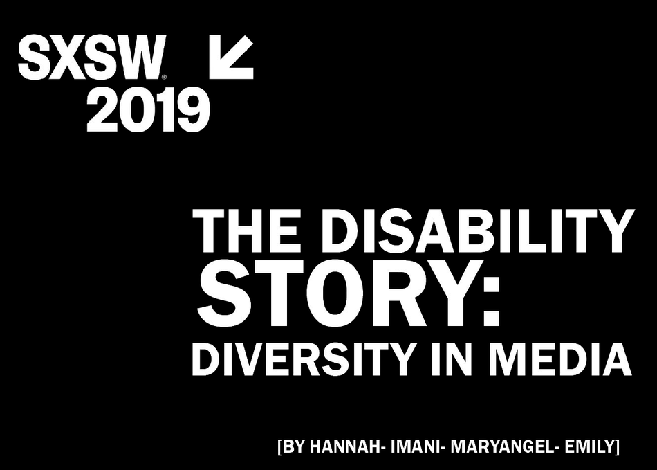 The Disability Story: Diversity in Media