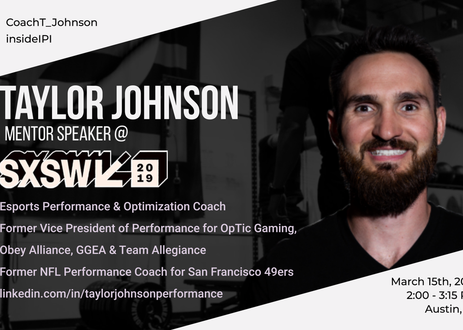 Taylor Johnson (Innovative Performance Institute): Mentor