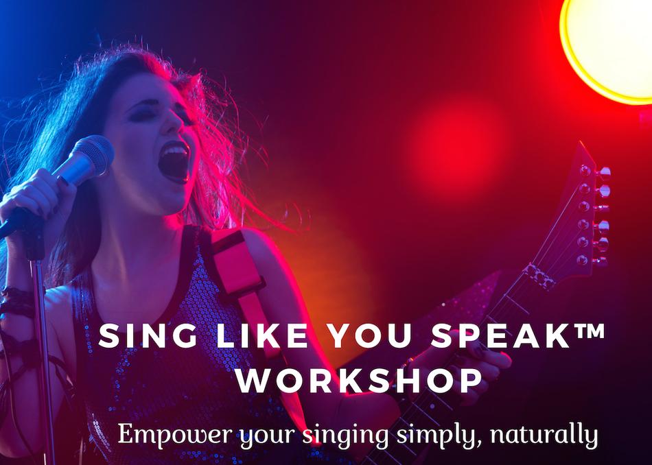 Sing Like You Speak
