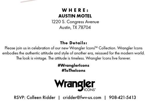 Wrangler ICONS @ SXSW
