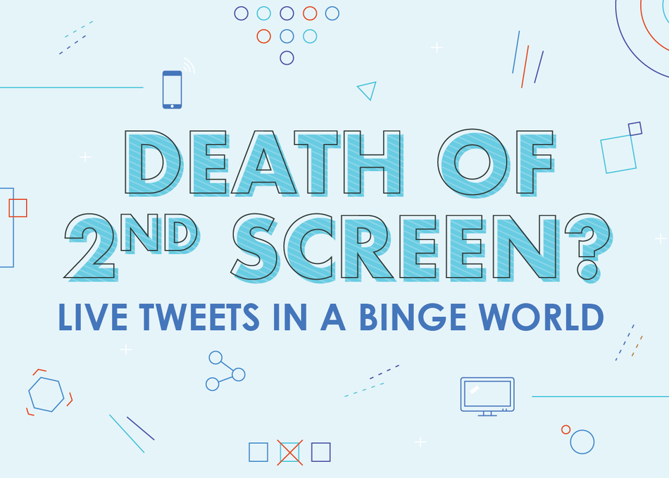 Death of 2nd Screen? Live Tweets in a Binge World