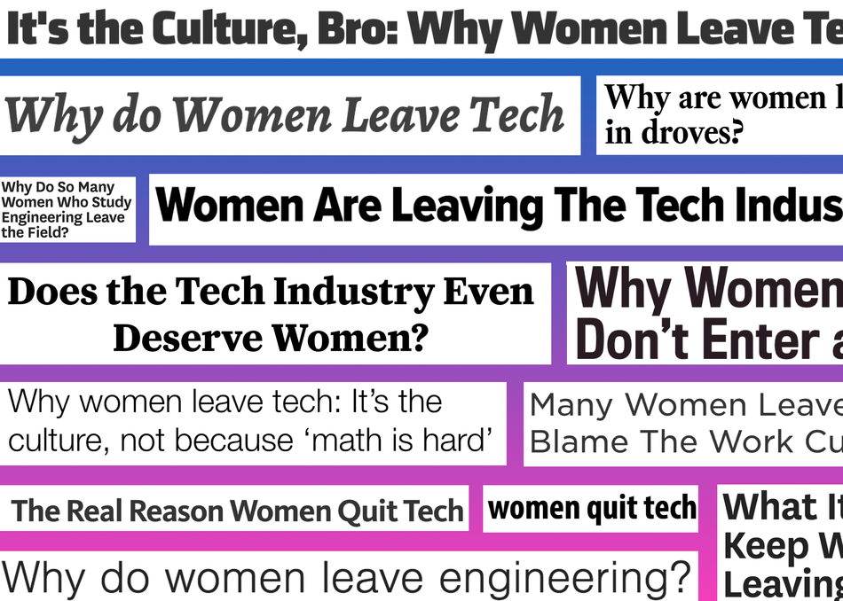 WEXIT: Why Women Exit Tech and How to Fix It