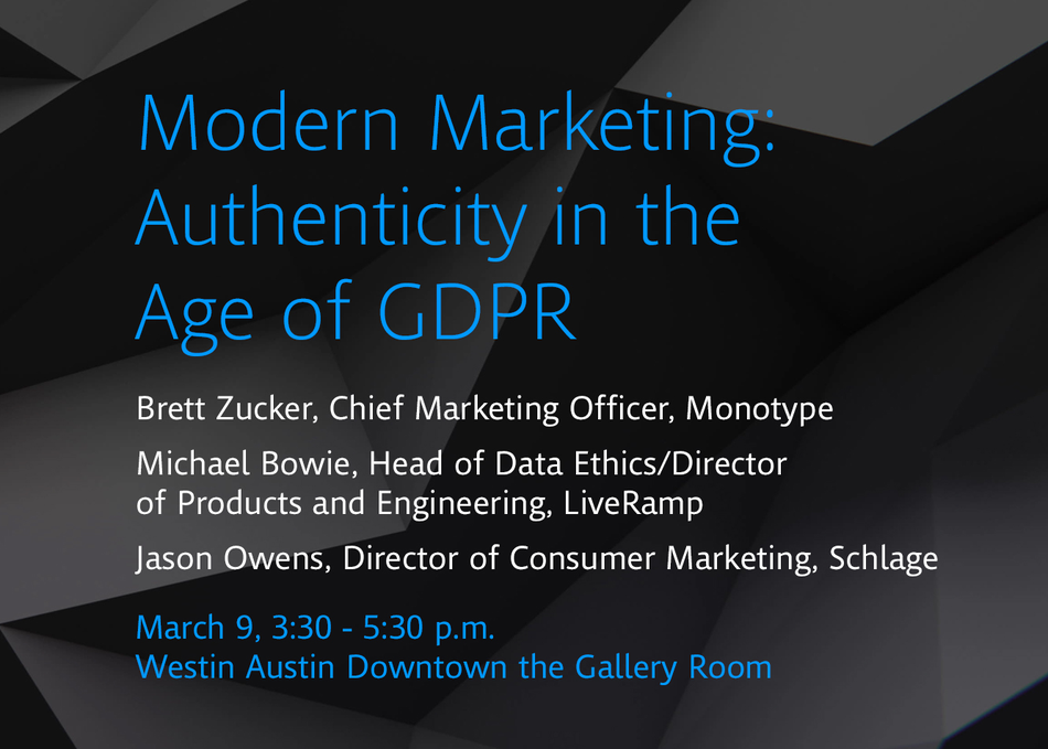 Modern Marketing: Authenticity in the Age of GDPR