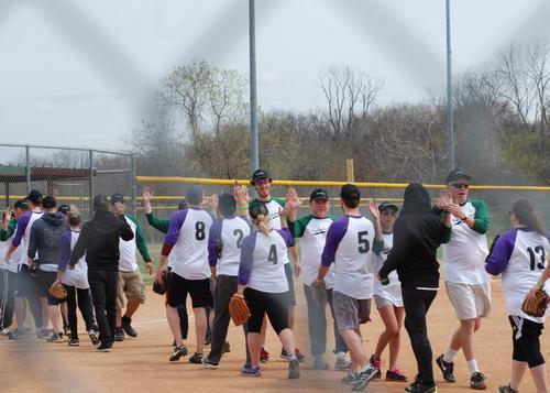 Softball handshake