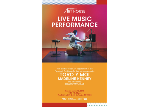 LIVE MUSIC PERFORMANCE PRESENTED BY FACEBOOK ART