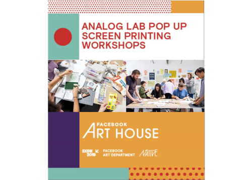FACEBOOK ART HOUSE SCREEN PRINTING WORKSHOP