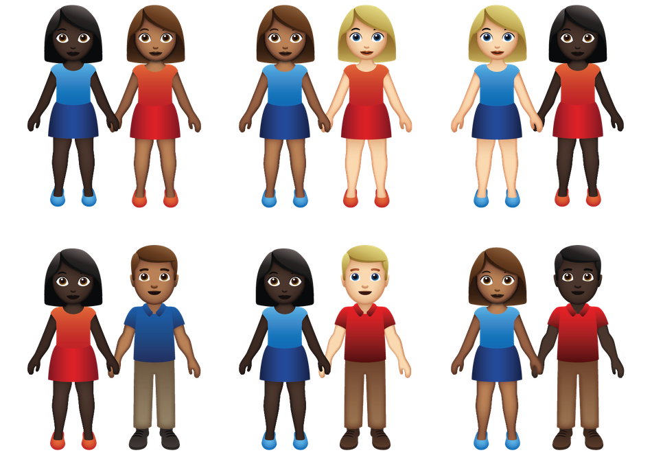 The Interracial Couple as a Crash Course in Emoji
