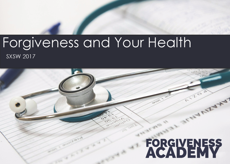Forgiveness and Your Health Meet Up