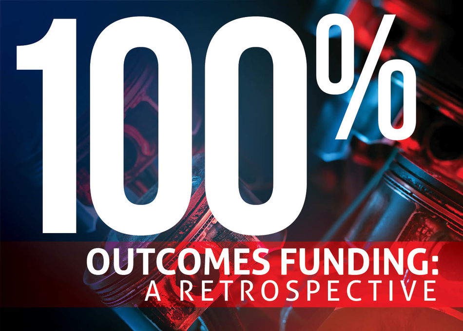 100% Outcomes Funding: A Retrospective